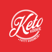 Keto kookie slogan white on red