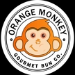 Orange monkey stamp white