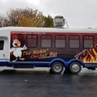 Kickin chicken wrapped bus
